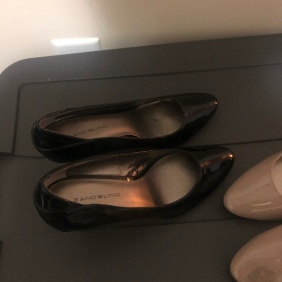 Bandolino Shoes - Black patent leather and Tan Patent leather shoes